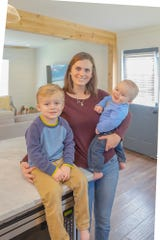 Homebuyer Sydney Ray and her two boys love the cottage she purchased in Collierville.