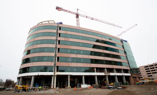Construction continues on the Advanced Research Center on Wednesday, Feb. 5, 2020, at St. Jude Children's Research Hospital in Memphis.