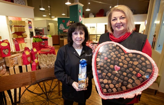 Dinstuhl's President Rebecca Dinstuhl and owner Judy Moss stand inside their newest location, downtown on South Main Street. The new shop opened its doors Feb. 6, 2020.