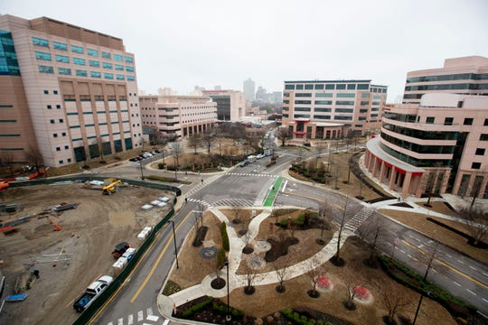 The St. Jude Children's Research Hospital campus Wednesday, Feb. 5, 2020, in Memphis.