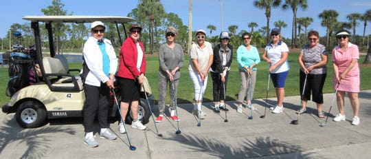 One of the Italian American Society's weekly events is women's golf, open to all the membersregardless of skill level. This fun group plays at the Links of Naples on Wednesday afternoons from November through April. Above: Marge Buetow, Dorrie Madonna, Louise Sheridan, Carol Lindstrom, Rosemary Laurie, Camille Madonia, Barbara DeRosa, Iolanda Scola and Wendy Chiarello making up this week's golfing bellas. For more information on golfing, call Barbara DeRosa, 239 272-0158. For information on membership, call Ralph Madonna, 239 970-2032, President or Ann D'Onofrio, 239 642-3940, Membership.