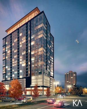 The planned downtown high-rise Ascent will be 25 stories, with up to 265 units.