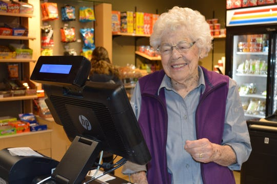 Gertrude Ullsperger of Waukesha has worked in Carroll University's cafeteria since 1964.