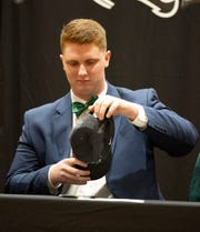 Jake Bius, a Prattville Christian Academy senior, signed his letter of intent  to play football at Stetson University during National Signing Day.