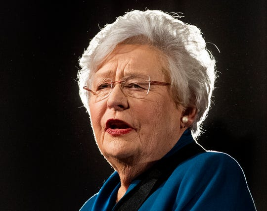 Governor Kay Ivey delivers her State of the State Address in the old house chamber in the state capitol building in Montgomery, Ala., on Tuesday evening February 4, 2020.