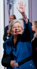 Governor Kay Ivey arrives to deliver her State of the State Address in the old house chamber in the state capitol building in Montgomery, Ala., on Tuesday evening February 4, 2020.