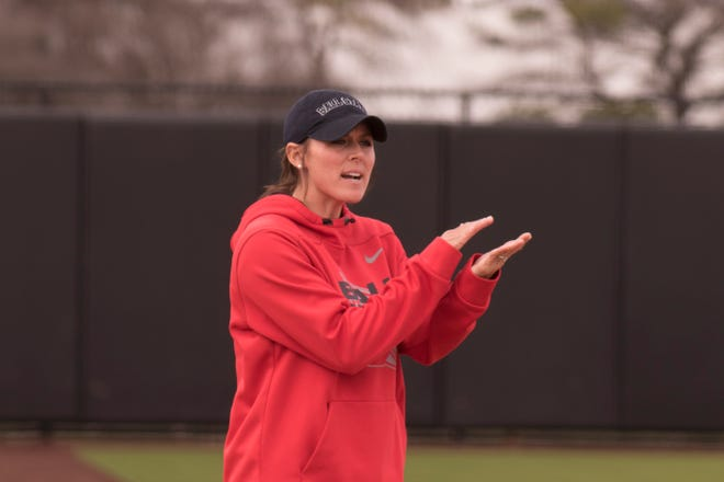 Ball State softball coach Megan Ciolli Bartlett is in her fifth year leading the Cardinals. A Mid-American Conference preseason coaches poll picked BSU to finish third in the regular season this season.