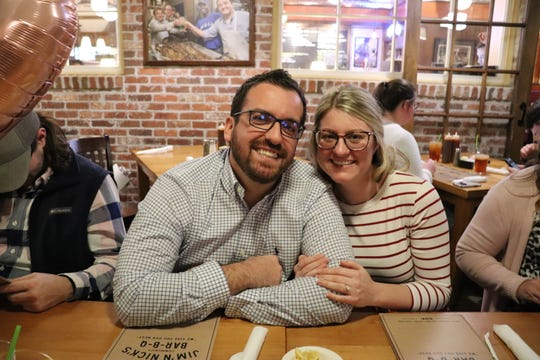 Koby Younce of Murfreesboro chartered a helicopter as part of his marriage proposal to Todd County, Kentucky, biology teacher Kaylee Belanger on Monday, Feb. 3, 2020. Their families hosted a surprise engagement party for the couple afterward.