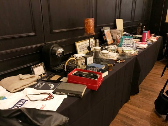 Everybody was asked to bring three to five items — books, wine, scarves, small home decor items, etc. — that they no longer wanted or needed. The offerings for the swap filled a wall of tables at a recent breakfast club meeting.