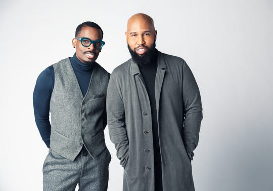 Chuck Harmony, left, and Claude Kelly make up the duo Louis York.
