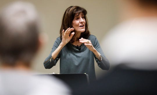 Director Linda Bolding of the Williamson County Community Chorus leads practice Tuesday, Feb. 4, 2020, in Franklin.