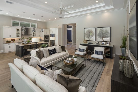 Theory Design's Ruta Menaghlazi created the interior for the furnished Cayman II model that is open for viewing and purchase at  Windward Isle in North Naples.