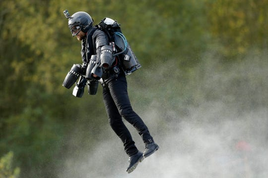 Watch inventor, Richard Browning take off in his Gravity Jet Suit at Imagine Solutions 2020.