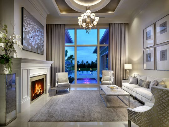 Vogue Interiors' interior designer Leslie Gebert has completed the interior design for a grand estate residence built by Diamond Custom Homes in Firenze at Talis Park.