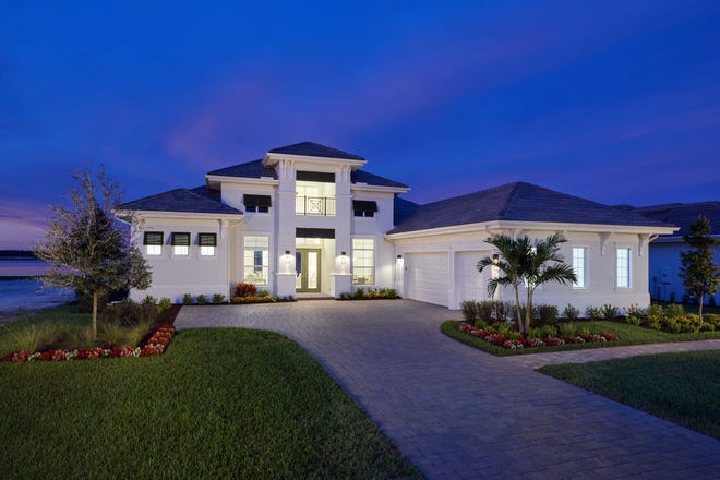 Stock Signature Homes' Muirfield VIII is located in WildBlue, a 3,500 acre community in Estero.