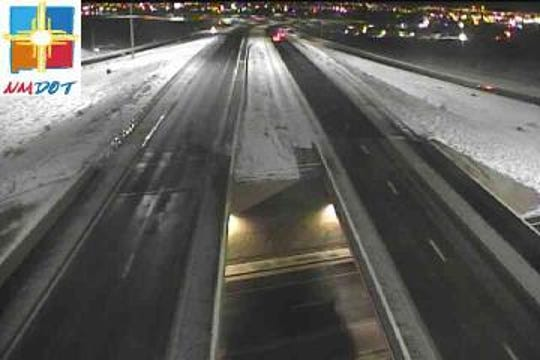 This image from a New Mexico Department of Transportation camera shows Interstate 10 at the Motel Boulevard overpass at 5:15 a.m. Wednesday, Feb. 5, 2020.