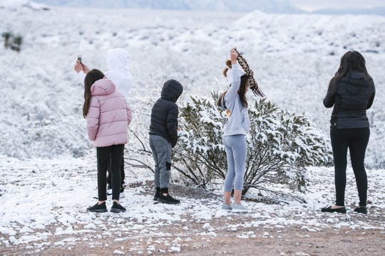 A layer of snow dusts the Sonoma Ranch area of Las Cruces the morning of Wednesday, Feb. 5, 2020.