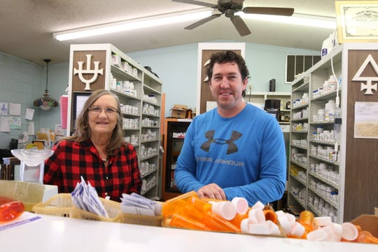 Snow didn't stop Debbie and Craig Riley from opening Brown Drug store in Artesia at its normal time of 8:30 a.m. Feb. 5.