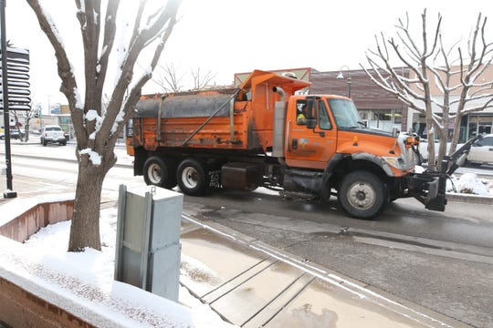 A New Mexico Department of Transportation truck was on snow patrol Feb. 5 in Artesia.