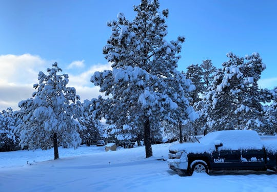 Over 10-inches of snow fell on the Village of Ruidoso that left dangerous road conditions behind on February 5.