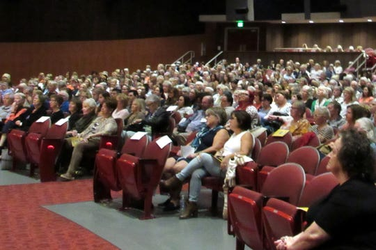 The crowd at LunaFest 2020 eager awaits the start of the first film.