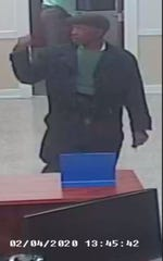 Pensacola police have released surveillance photos of a man who is accused of robbing Gulf Winds Credit Union in Pensacola on Tuesday, Feb. 4, 2020.