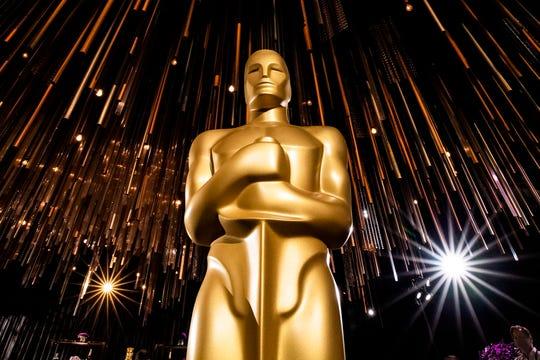 Imagen de una estatuilla de los Oscar durante un evento previo en Hollywood (California).