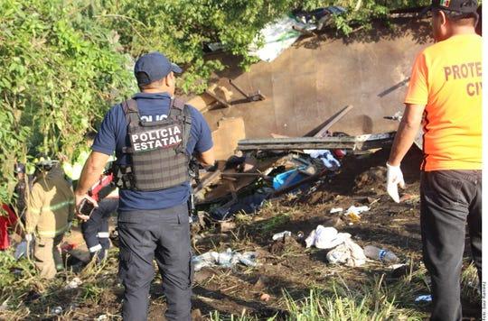 """""""Se habilitó un refugio temporal en el Albergue de los Niños en San Andrés Tuxtla, en el que al momento se encuentran 10 personas"""", informó Protección Civil de Veracruz sobre los migrantes accidentados."""