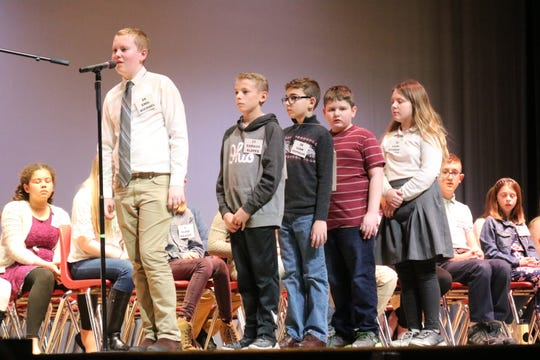 Put-in-Bay student Emil Michael swept his way to a first-place finish at this year's Ottawa County Spelling Bee on Tuesday.