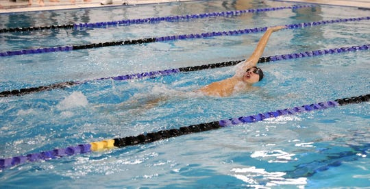 Wappingers boys swimming standout Sebastian Smith is part of the 400-yard freestyle relay team that will compete in the state championships in March.