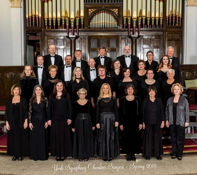 The York Symphony Chamber Singers will perform Sunday at Mount Zion Lutheran Church.