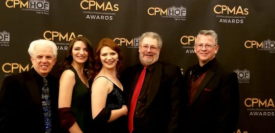 Members of Unforgettable Big Band at the red carpet ceremony for the Central PA Music Awards.