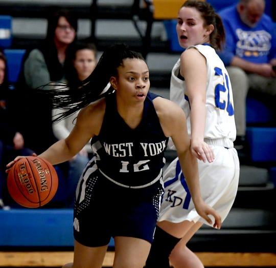 West York's Alayna Harris is the York-Adams League Division II Girls' Basketball Player of the Year.
