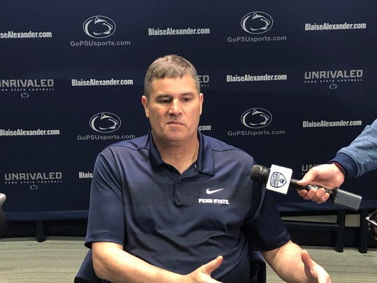 New Penn State offensive coordinator Kirk Ciarrocca met the media for the first time since joining James Franklin's staff. Ciarrocca is a Red Land grad and grew up in York County.