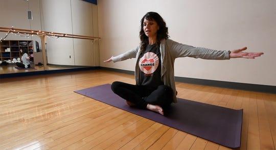 Christen Coscia talks about Trauma (or Gentle Yoga) at York's YWCA.