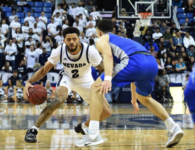 Jalen Harris and his Wolf Pack teammates are battling for second place in the Mountain West standings.
