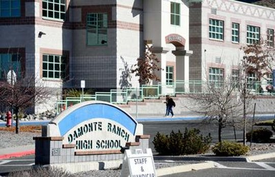 A file photo outside of Damonte Ranch High in south Reno