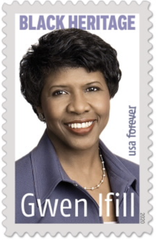 Journalist Gwen Ifill has been honored on a U.S. postage stamp.