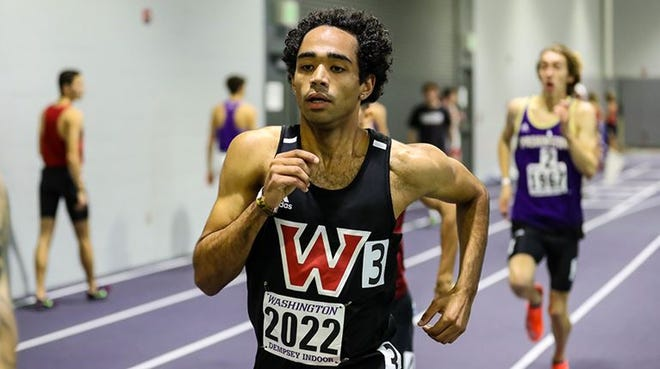 Derek Holdsworth has a record setting performance in the 800 meters over the weekend.