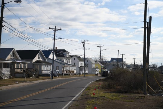Main Street on Chincoteague Island, Virginia, is quiet in the afternoon of Jan. 29, 2019.