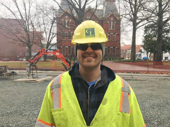 Eric Courts, a laborer on the downtown Salisbury construction crew, is one of many who have benefited from Olde Towne Deli's recent special offer.
