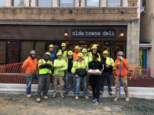Olde Towne Deli's new breakfast special donates one sandwich to downtown construction workers for every sandwich purchased on Friday, Jan. 31.