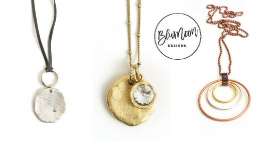 Examples of handmade jewelry at BluMoon Designs, which is moving to Jones421 in April.