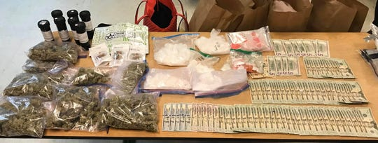 Rosebud Sioux Tribe Law Enforcement officers seized 3 1/2 pounds of meth, 1 9/10 pounds of marijuana, 20 units of oxycodone and $1,955 cash after a traffic stop of Feb. 4.