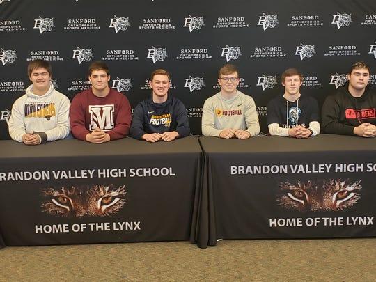 Brandon Valley: Isaac Bullis-Rodriguez, Northwestern; Sam Lembcke, Morningside; Zach Roggow, Mankato; Thomas Scholten, Augustana; Cole Sylliaasen, Dakota State; Jared Vanderbush, Northern State,