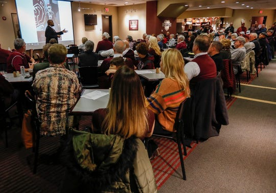 A large crowd gathered in the Prime Overtime Club during a signing day event at JQH Arena on Wednesday, Feb. 5, 2020.