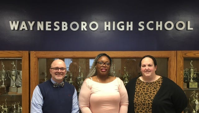 The three Waynesboro School Board members whose seats are up for election plan to run again in May. From left: Chair Rick Wheeler, Vice Chair Diana Williams and Erika Smith.