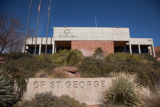 St. George Mayor Jon Pike announces city hall renovations and new office locations during his State of the City address Wednesday, Feb. 5, 2020.