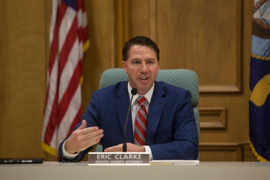 Eric Clarke is named acting County Attorney Wednesday, Feb. 5, 2020.
