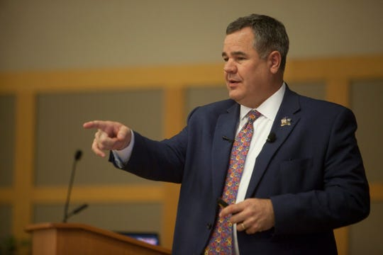 St. George Mayor Jon Pike delivers his State of the City address Wednesday, Feb. 5, 2020.